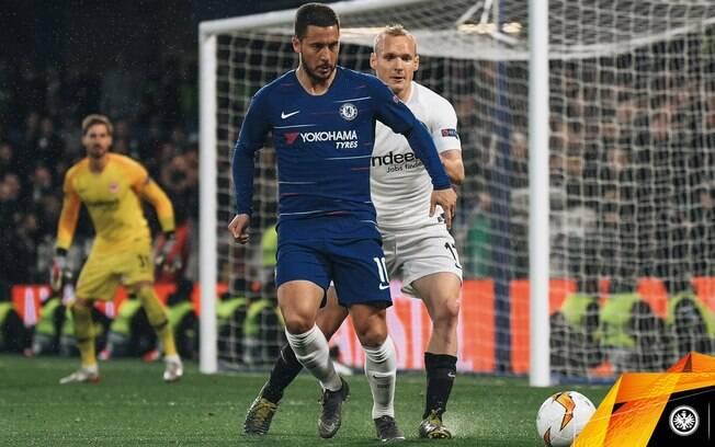 Chelsea e Eintracht Frankfurt duelaram em Londres pela Liga Europa