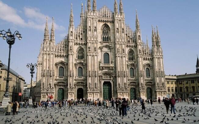 A imponente Duomo, em Milão