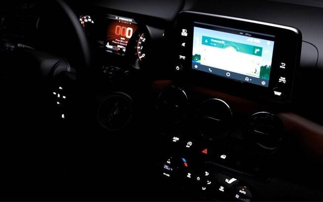 Teaser mostra parte do interior do Fiat Argo topo de linha, com alguns componentes vindos da picape Fiat Toro