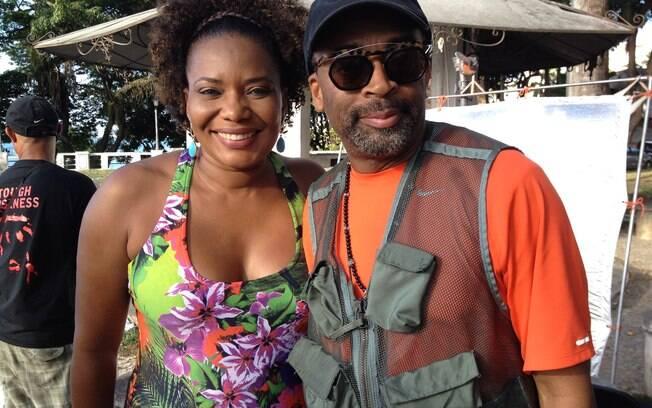 Margareth Menezes encontra o cineasta Spike Lee em Salvador