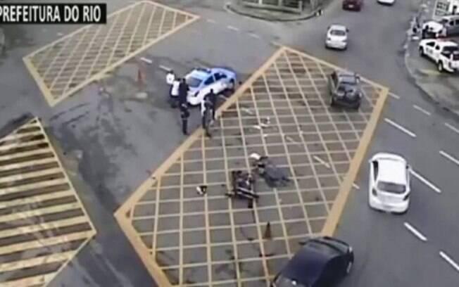 O local do acidente