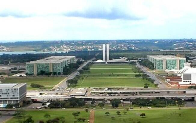 Esplanada dos Ministérios em Brasília
