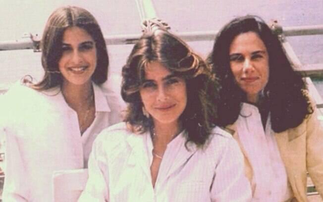Lúcia Veríssimo, Maitê Proença e Xuxa Lopes no Festival de Cannes, na França, em 1982