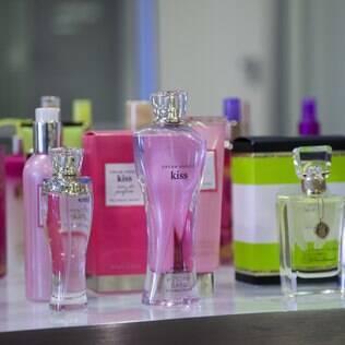 Alguns dos perfumes desenvolvidos pela Robertet