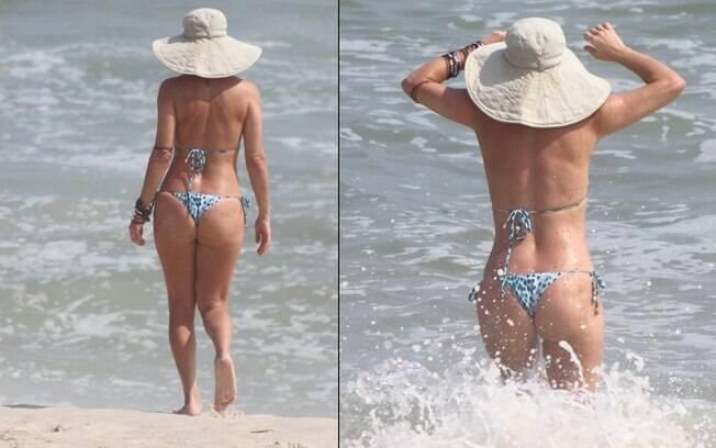 Christine Fernandes: excelente forma física aos 43 anos