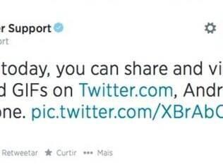 Twitter agora tem suporte para a inserção de GIF's