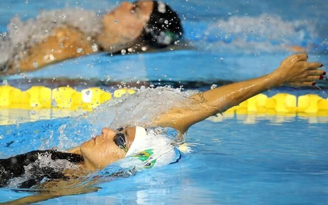Joanna Maranhão nas eliminatórias dos 200 m costa. Foto: Satiro Sodre/SSPress