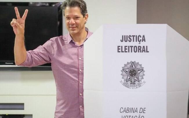 Segundo nas pesquisas de intenções de voto, Haddad disse que acredita em um segundo turno das eleições 2018
