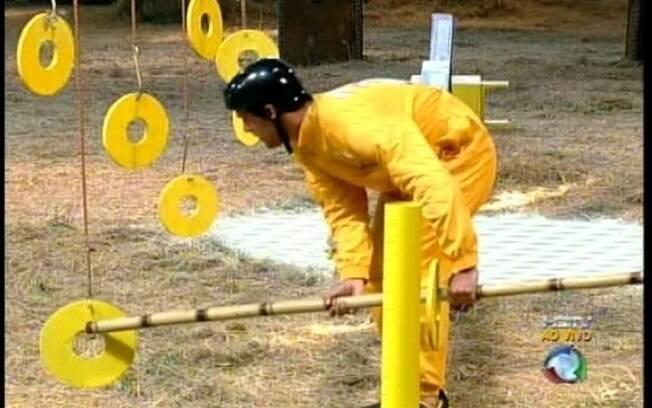 Thiago mostra equilíbrio e habilidade durante a prova