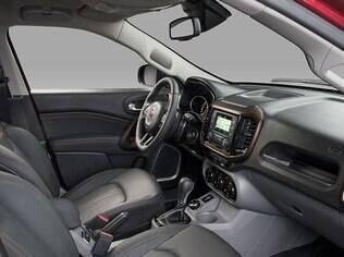 Interior da Fiat Toro
