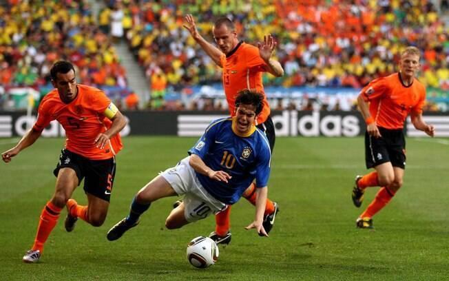 A última partida de Kaká foi em 2 de julho,  pelas quartas de final da Copa do Mundo