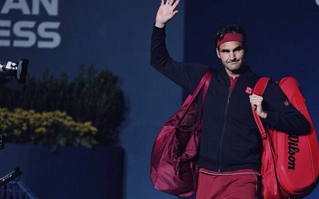 Roger Federer durante o US Open deste ano