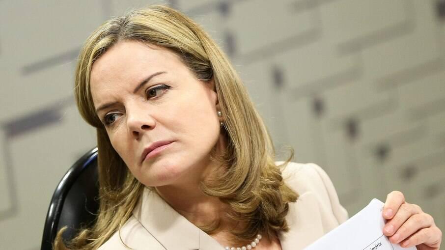 A líder petista Gleisi Hoffmann