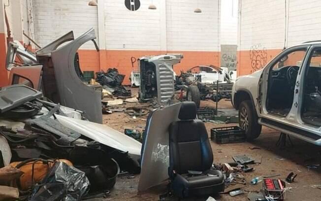 Polícia encontra desmanche em Hortolândia e suspeitos fogem com ajuda de câmeras