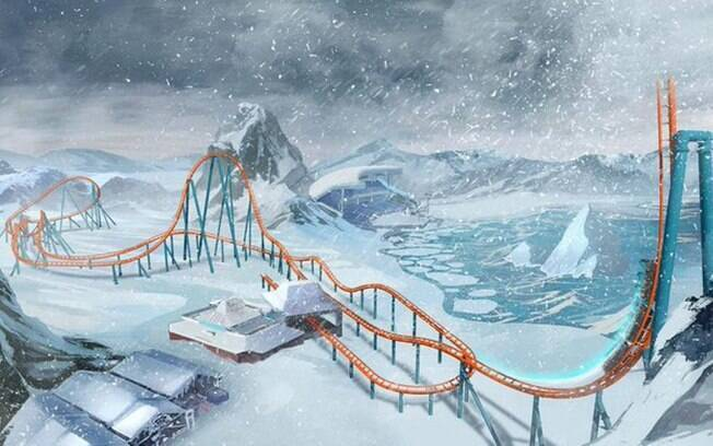 A montanha-russa do SeaWorld Orlando terá uma queda com inclinação de 100 graus e 28 m de altura