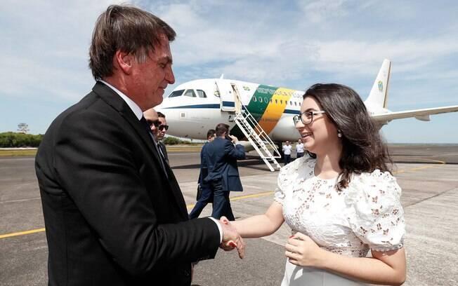 Estudante Maria Sahdo encontrou Bolsonaro em Manaus