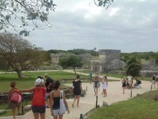 Tulum é a única ruína maia à beira-mar