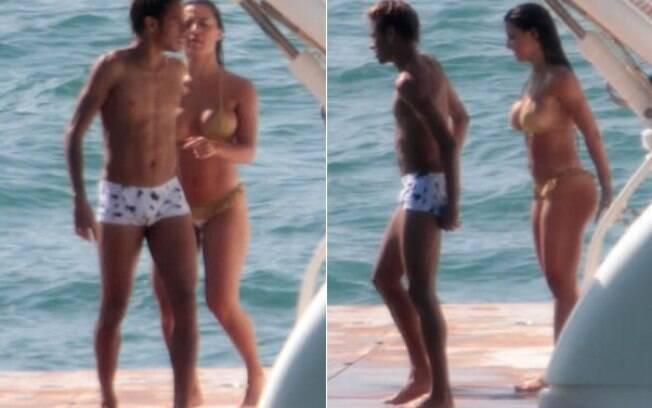 Neymar e Carol Abranches curtem tarde de sol em iate alugado pelo jogador