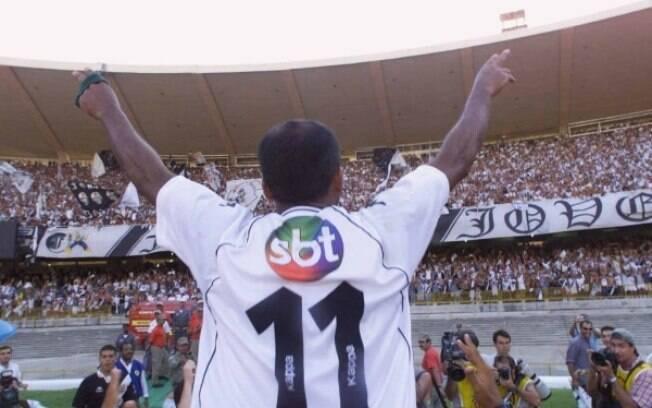 Uma das camisas históricas do Vasco. O clube fechou acordo com a emissora SBT, concorrente da TV Globo - responsável pelos direitos de transmissão dos jogos