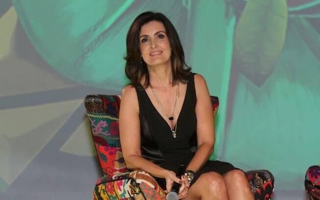Fátima Bernardes durante a apresentação seu novo programa: 'Encontro com Fátima'