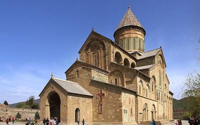 A Catedral Ortodoxa de Svetitskhoveli é uma das mais antigas da Geórgia
