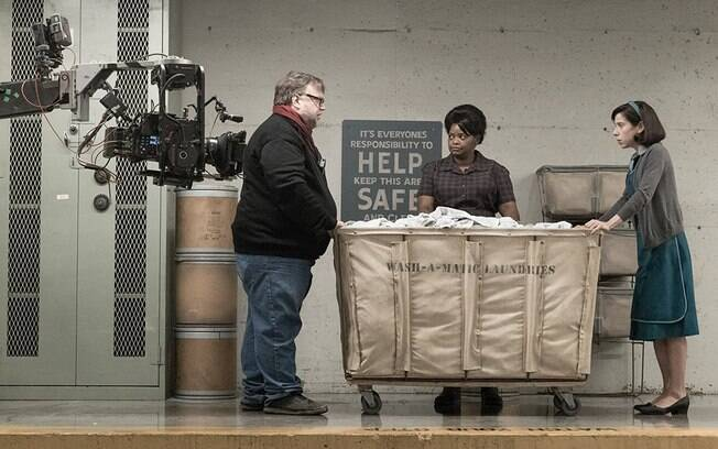 Guillermo Del Toro no set de
