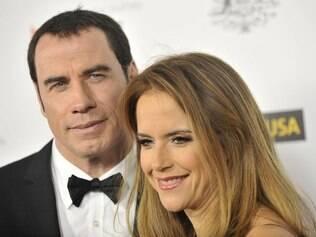 John Travolta e a mulher Kelly Preston