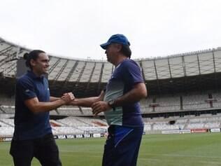 Sorín esteve em Belo Horizonte recentemente e conversou com o técnico Marcelo Oliveira no Mineirão