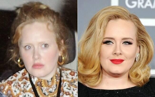 Adele curtiu a noite londrina sem sua maquiagem de olhos marcados característica