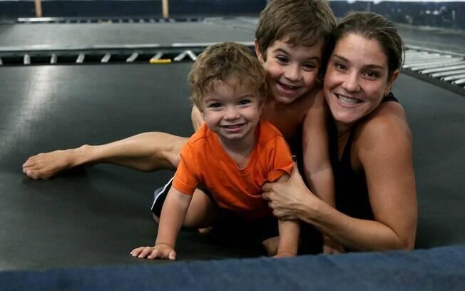 Juliana Veloso é uma das mães atletas do Brasil