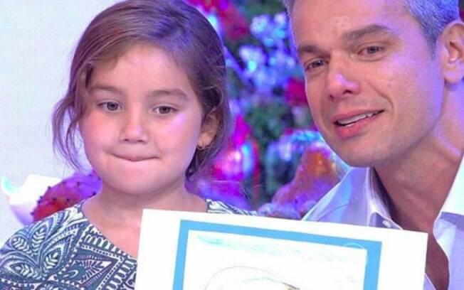 Otaviano Costa com a filha Olívia no