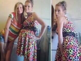 Mulher suspeita de roubar vestido posta foto em rede social.