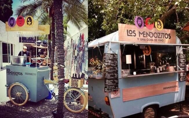 Los Mendonzitos contam com trailer e investiram em uma bicicleta para poder levar os vinhos a espaços menores. Foto: Facebook