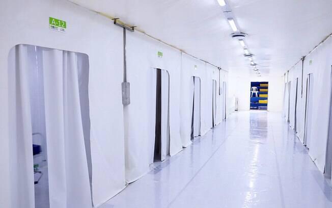Hospital de Campanha construído em Campinas para atender pessoas com Covid-19.