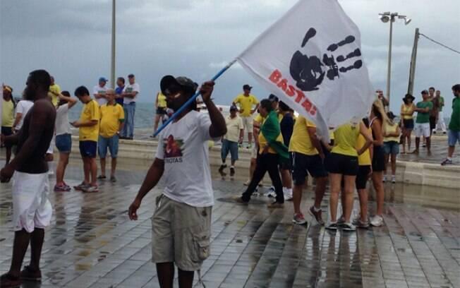 Em Salvador, na Bahia, os manifestantes começaram a chegar por volta das 9h