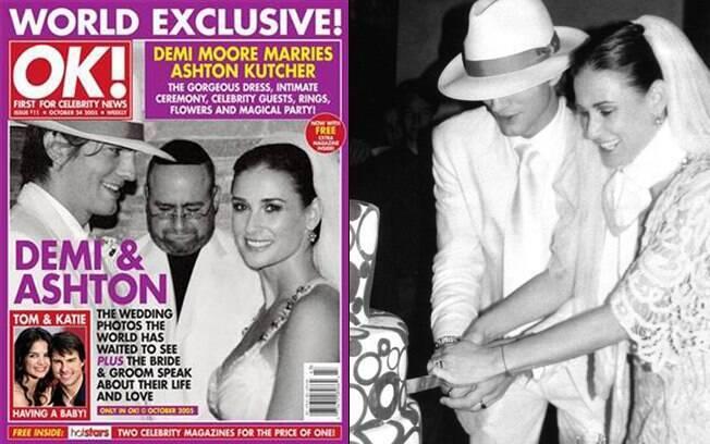Fotos do casamento de Ashton Kutcher e Demi Moore