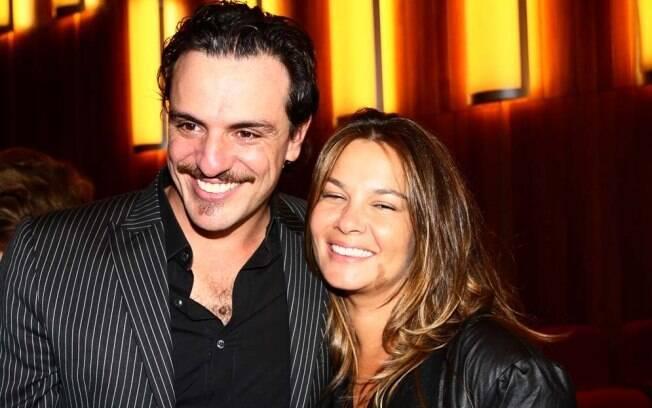 O casal Rodrigo Lombardi e Betty Baumgarten