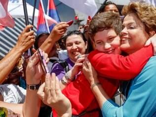 Campanha. Dilma Rousseff encontrou militantes durante o encontro com mulheres em São Paulo