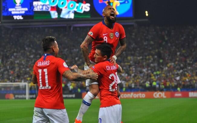 Chile passou pela Colômbia na Copa América