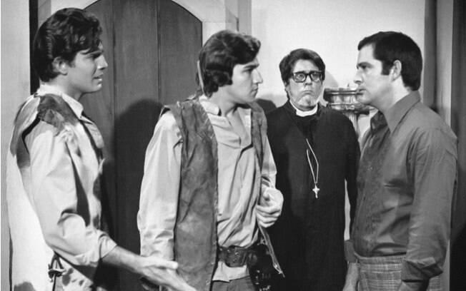 Os irmãos Coragem: Tarcísio Meira, Cláudio Cavalcanti e Cláudio Marzo
