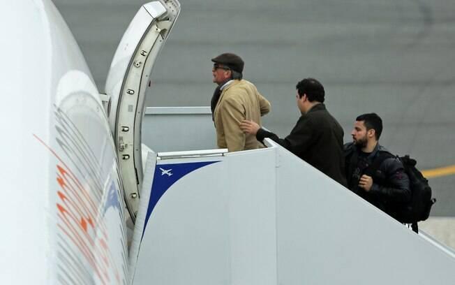 Cerveró embarcou no Aeroporto Afonso Pena, em Curitiba (PR) com destino ao Rio de Janeiro
