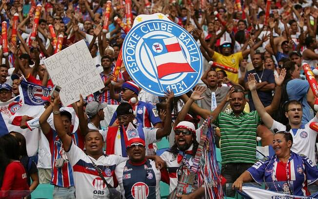 Torcida do Bahia se animou antes do Ba-Vi
