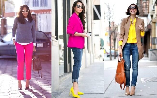 Inspirações tendência cores neon para o trabalho