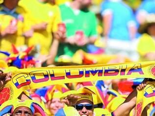 Simpatia. Colombianos invadiram a cidade no primeiro jogo que Belo Horizonte sediou e conquistaram nossa torcida