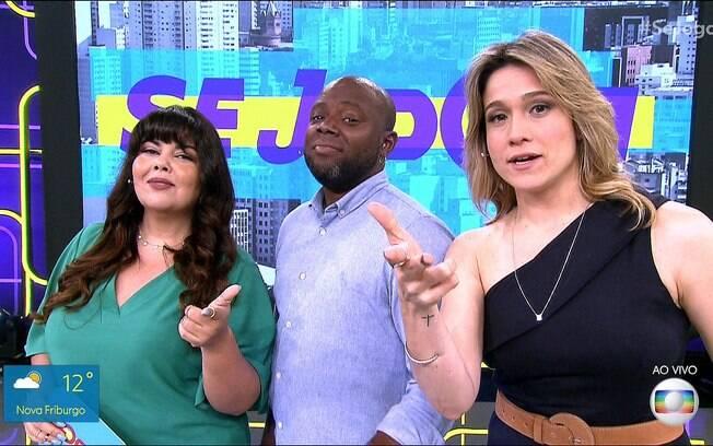 Fabiana Karla, Érico Brás e Fernanda Gentil