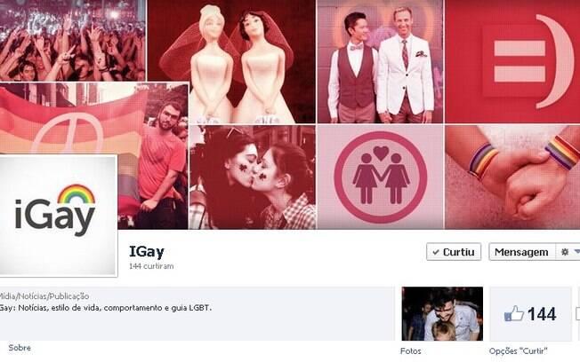 Fanpage do iGay: tenha as novidades do canal na sua timeline