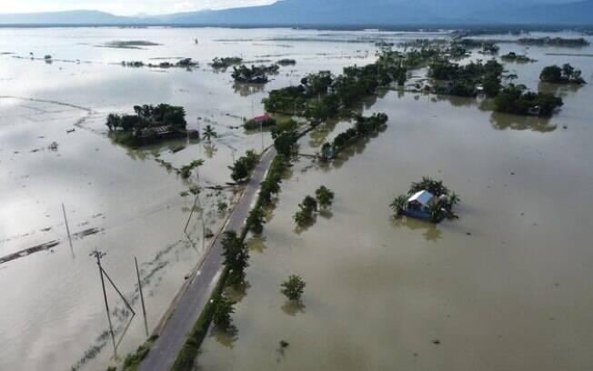 Bangladesh está parcialmente inundada