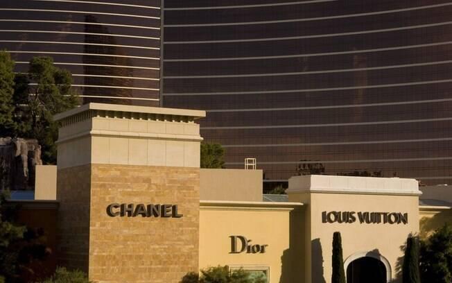 Lojas da Channel, Dior e Louis Vuitton na Wynn Esplanade