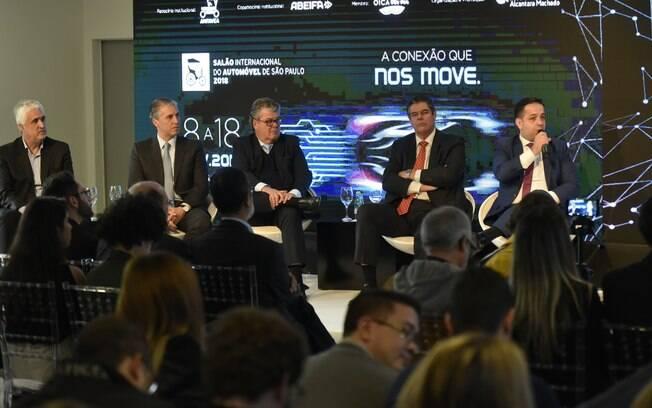 Executivos responsáveis pela realização do Salão do Automóvel 2018 se reúnem  para falarem sobre o evento