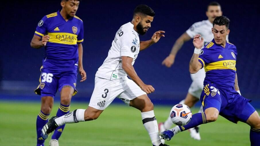 Santos e Boca Juniors brigam por vaga na próxima fase da Libertadores